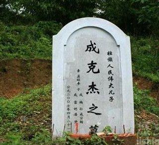 """大贪官成克杰之墓碑上居然有""""壮族人民伟大的儿子"""""""