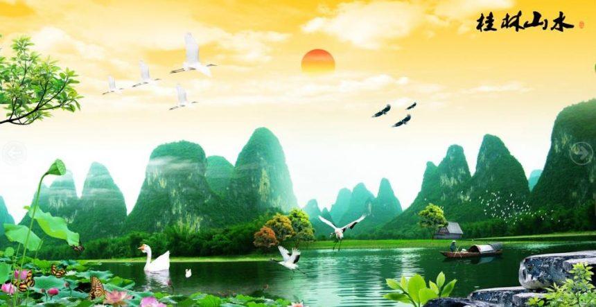 欣赏几副漂亮的风水画-聚财风水画