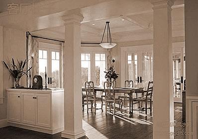 客厅的风水中柱梁的缓解