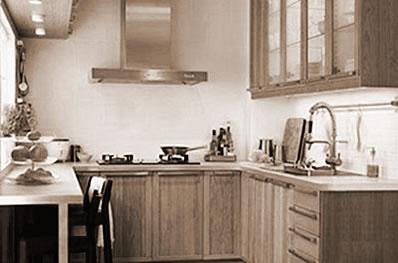 简洁酒店厨房 当代时尚潮流简单家居家具之选