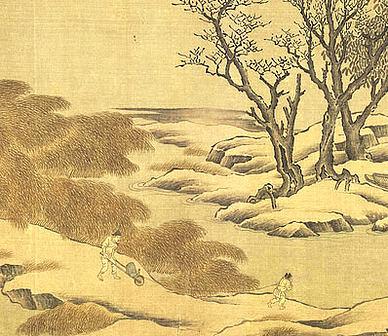 【雪夜宿楞伽寺其一】原文-明.文徵明